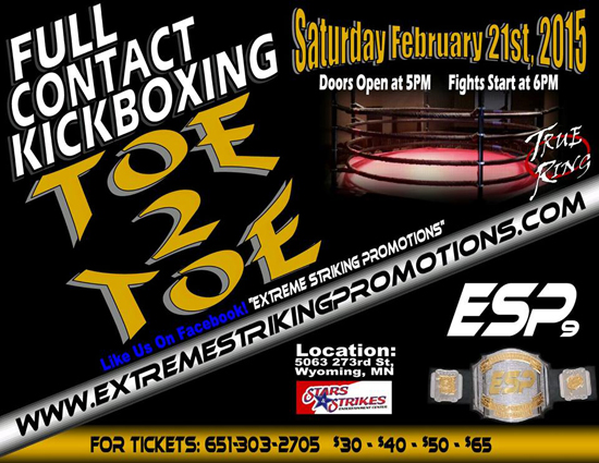 6 Cellar Fighters at ESP 9 kickboxing event