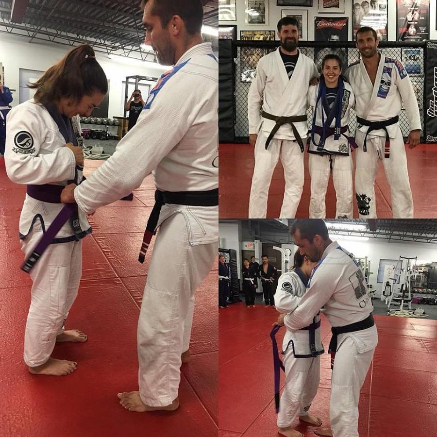 professor mauricio carra promotes michelle donovan to purple rank