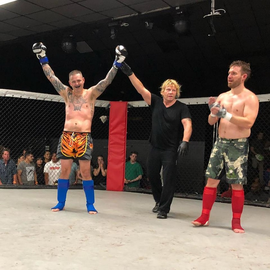 cellar gym fighter wins fight in savage